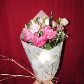 Букет в розово