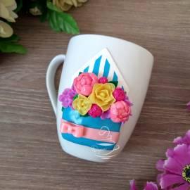 """Чаша """"Цветя в писмо"""""""