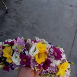 """""""Самодива"""" - венче от цветя"""