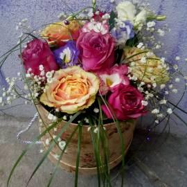 """""""Шик"""" -кутия с цветя"""