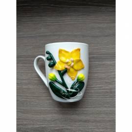 """Чаша """"Жълта орхидея"""""""