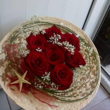 Букет от 7 червени рози